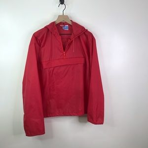 Champion red pull over jacket